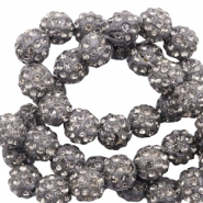 Perles strass 8mm Anthracite