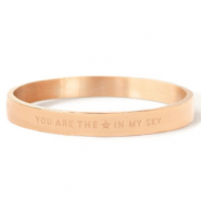 "Bracelets en acier inox ""YOU ARE MY STAR IN THE SKY"" Doré rosé"