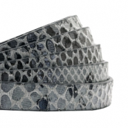 Simili cuir plat 10 mm serpent Gris anthracite