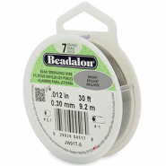 Beadalon stringing wire 7 strand 0.30mm Acier inoxydable brillant