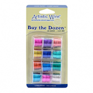 Artistic Wire 20 Gauge 12-pack assorti Mulitcolore
