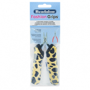 Beadalon fashion grips tool covers cheetah Jaune-Noir