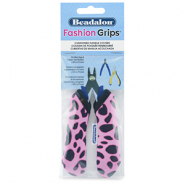 Beadalon fashion grips tool covers cheetah Rose-Noir