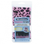 Beadalon fashion tool pouch cheetah Rose-Noir