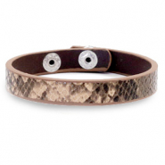 Bracelets tendance serpent Beige marron
