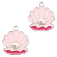 Breloques en métal Basic Quality coquillage mermaid Argenté-Rose