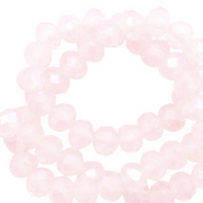 Perles à facettes 3x2mm disque Rose coquillage-pearl shine coating