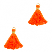 Pompons 1.5cm Doré-orange fluo