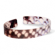 Bracelets tendance en résine loose fit serpent mat Marron-gris