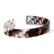 Bracelets tendance en résine loose fit serpent shiny Marron-gris
