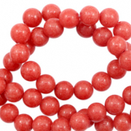 Pierres naturelles Jade rond 6mm Rouge rose