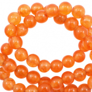 Pierres naturelles Jade rond 4mm Orange kaki opale
