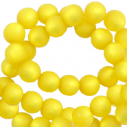Perles Super Polaris rond 8 mm mat Jaune empire