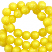 Perles Super Polaris rond 6 mm shiny Jaune empire