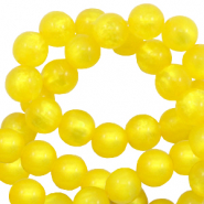 Perles Polaris rond 6 mm pearl shine Jaune empire