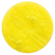 Cabochon plat 35mm Polaris Elements Lively Jaune empire
