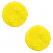 Cabochon plat 12mm Polaris Elements Lively Jaune empire