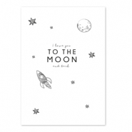 Cartes à bijoux 'I love you to the moon and back' Blanc