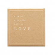 Boîte écrin à bijoux 'A small gift with lots of LOVE' Marron