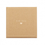 Boîte écrin à bijoux 'for you ♥' Marron