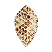 Pendentifs en simili cuir feuille small serpent Beige-marron