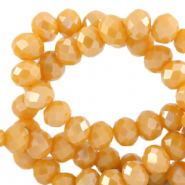 Perles à facettes 4x3mm disque Jaune ceylan-pearl shine coating