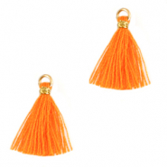 Pompons 1.5cm Doré-orange flamme