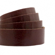 Cuir DQ plat 20 mm Marron route rocailleuse