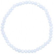 Bracelets perles à facettes 4x3mm Ice blue-pearl shine coating