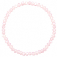 Bracelets perles à facettes 4x3mm Peach pink opal-pearl shine coating