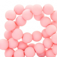 Perles acryliques 4mm Rose coquillage