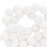 Perles acryliques 4mm Blanc