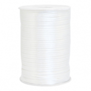 Cordon satin 2.5mm Blanc