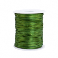 Cordon satin 1.5mm Vert printemps
