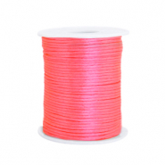 Cordon satin 1.5mm Rose fluo