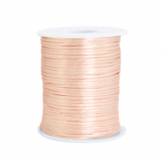 Cordon satin 1.5mm Rose pêche