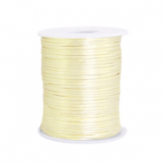 Cordon satin 1.5mm Jaune tendre