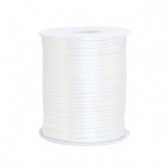 Cordon satin 1.5mm Blanc