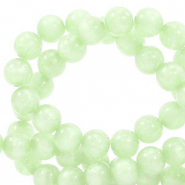 Perles Polaris rond 8mm Mosso shiny Vert cendre