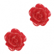 Perles roses 10mm Rouge samba