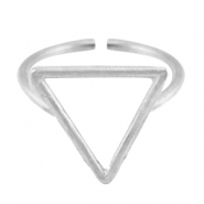 Bague en métal DQ triangle 15mm argenté antique (sans nickel)