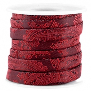 Cordon plat baroque 10mm rouge port