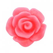 Perles roses 10mm mat rose hot