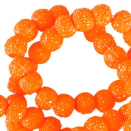 Perles scintillantes 8mm orange vif