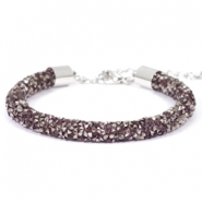 Bracelets Crystal Diamond 7mm Amethyst-anthracite