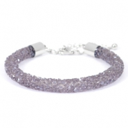 Bracelets Crystal Diamond 7mm violet velvet