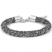 Bracelets Crystal Diamond 8mm noir diamant-anthracite