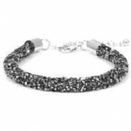 Bracelets Crystal Diamond 7mm noir diamant-anthracite