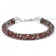 Bracelets Crystal Diamond 7mm rouge siam-anthracite