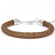 Bracelets Crystal Diamond 7mm marron foncé